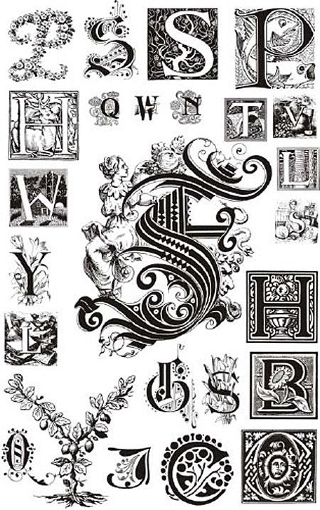 Орнаментальная буквицаornamental vector letters